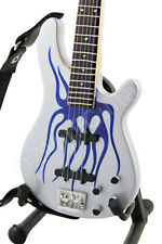 Miniature Bass Robert Trujillo METALLICA Blue Flames & Strap
