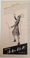 1947 As You Like It nylon Hosiery stockings womens legs staircase ad