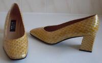 WEITZMAN Designer Yellow Cream Pumps Heels Court Shoes Size UK 4 EU 37 US 6.5