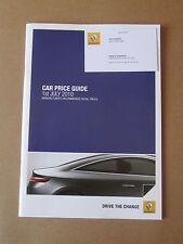 Renault Car Price Guide 2010