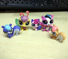 5pcs Littlest Pet Shop LPS Yellow Butterfly Pink Bat Squirrels Figure Toy Gift