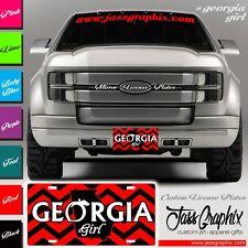 Georgia Girl License Plates and Car Tags with Peach Logo