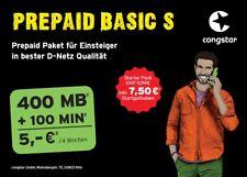Congstar Prepaid Guthaben T-mobile D1 Netz für nur