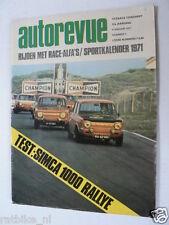 AUTOREVUE 1971 NO 1,TEST SIMCA 1000 RALLY,CITROEN GS & OPEL GT ADD,MARTINI TEAM