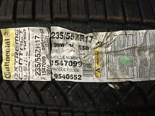 235-55-17 Continental Extreme Contact DWS 99W  #1547099 Tire