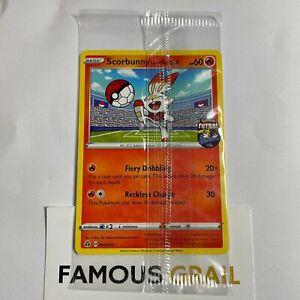 Scorbunny On The Ball 004/005 Pokemon FA England Futsal Promo Card NEW & SEALED