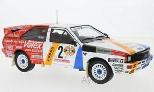 IXO 18RMC010 AUDI QUATTRO Hunsruck Rally 1984 H Demuth / W Lux model car 1:18th