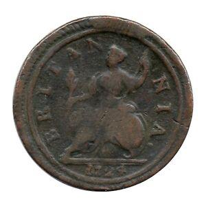 KM# 557 - Halfpenny - George I - Great Britain 1724 (Fair)