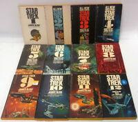 Original 1970s BLISH Star Trek Episode Paperback Book Set of 12- #1-12 (M-6904)