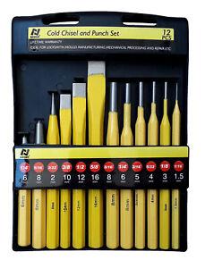 Scalpelli cacciachiodi bulini e cacciaspine per meccanico, set da 12 pezzi