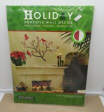 2010 Lot 26 Studio Wall Sticker Glitter Cardinals & Branches Wall Decor Add-Here