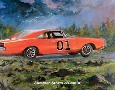 """Summer Storm A' Comin"" 2017 James Best Dukes of Hazzard Art Print"