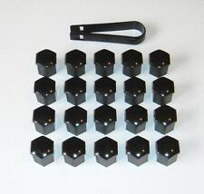 x20 Black Push-on Wheel Nut / Bolt Head Covers 19mm Hex