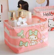 Cute My Melody Office School Home Storage Box Glove Box Makeup Box Case Holder