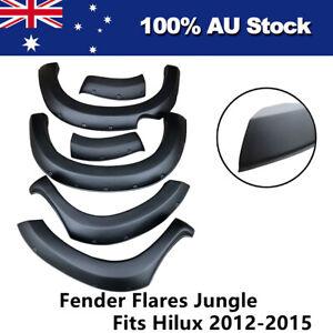 Jungle Fender Flares Wheel Arch to suit Toyota Hilux 2012-2015 Matte Black 6pc