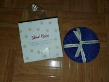 New listing Deborah Rhodes Linen Braid Coaster Set of 4 / Blue Mats Nib