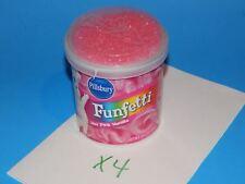 New Pillsbury Funfetti Vanilla Cake Icing Birthday Hot Pink 4 Pack / Lot