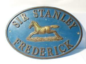 Rare SIR STANLEY FREDERICK - HORSE Solid Oval Solid Bronze Wall Plaque 4.5kilos