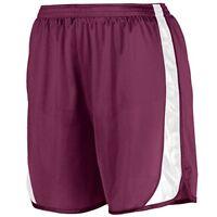 Augusta Sportswear Men's Wicking Track Short with Side Insert L Maroon/White