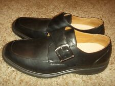 DR. COMFORT Leader Black Buckle Loafers Mens Size 11W