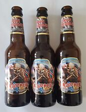 IRON MAIDEN 3 LEERE FLASCHEN TROOPER BIER ALE CERVEZA BEER METALLICA RAGE SLAYER