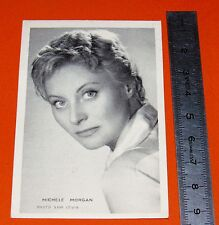 CARTE PHOTO PUBLICITE BISCOTTES LUC ANNEES 1950 MICHELE MORGAN ACTRICE CINEMA