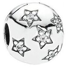 PANDORA Genuine Star Pave Clip 791058CZ charm Sterling Silver S925 ALE