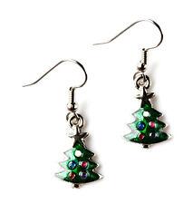 Christmas Tree Earrings - Accessories - Holiday Jewelry - Handmade - Gift Box