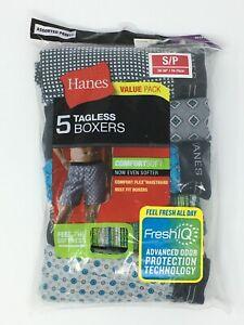 Hanes 5 Pack Small Mens Tagless Boxer Shorts - New
