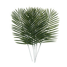 5x Artificial Green Plants Decorative Palm Areca Leaves Wedding Party Decor Hot`