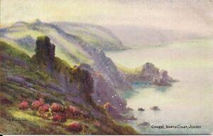 SUPERB RARE OLD POSTCARD - CRABBE - NORTH COAST - JERSEY 1925 by J. Salmon