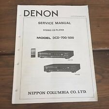 DENON DCD-700 DCD-500 Stereo CD Player Service Manual - Factory Original