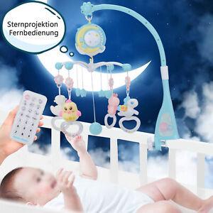 Baby Babybett Bettglocke Mobile Spieluhr mit Projektor Schlafmusik Spielzeug DE