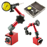 Flexible Magnetic Base Holder Stand + Metric Precision Dial Test Indicator Gauge