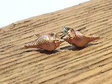 Copper Sea Shell Stud Earring