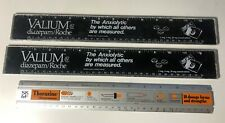 Three pharmaceutical promo rulers from the 80s, rare. See photos