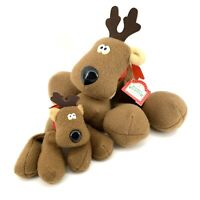 Vintage Hallmark Plush RODNEY REINDEER Large With Tag, Small 1979