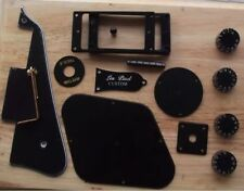 withTracking black Pickguard Ring Cover Plate knobs for Epiphone Les Paul Custom