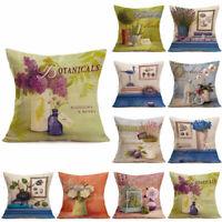 "18"" Vintage Waist Throw Pillow Case Home Sofa Bed Decor Linen Cushion Cover"