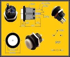 Taster mit Klick- Funktion Grüne LED Beleuchtung 3A 250VAC Diameter 16 mm 1 x