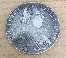 Original 1780 ST-S.F.  Austria Hungry Milan 1 Thaler Silver Coin M.Theresa D23