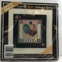 Mill Hill Autumn Series V Folk Art Rooster Cross Stitch Kit Glass Beads Rare (50