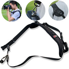 New Camera Sigal Shoulder Sling Belt Neck Strap For Nikon Canon DSLR Black