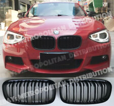 BMW 1 F20 F21,double bar front grilles,M performance Gloss Black,SHADOW EDITION