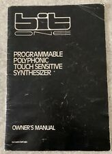 Crumar BIT ONE Programmable Polyphonic Vintage Analog Synthesizer Owners Manual
