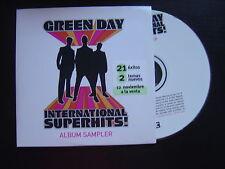 GREEN DAY international superhits PROMOTIONAL CD ALBUM SAMPLER REPRISE 2001