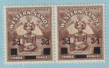 "WESTERN SAMOA 185  ""d"" VARIETY - MINT HINGED OG * NO FAULTS EXTRA FINE!"