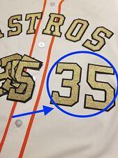 Justin Verlander Houston Astros Gold Jersey Number lettering kit patch
