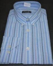 Camisas y polos de hombre de manga larga sin marca color principal azul