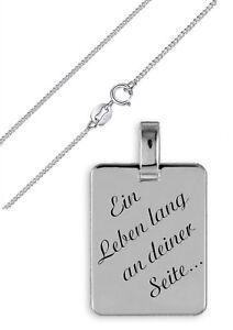 Silber Anhänger 925 + Kette und Gravur nach Wunsch Echtsilber Sterlingsilber 04